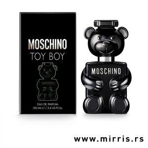 Parfem Moschino Toy Boy pored crne kutije