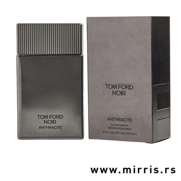 Boca originalnog parfema Tom Ford Noir Anthracite pored sive kutije