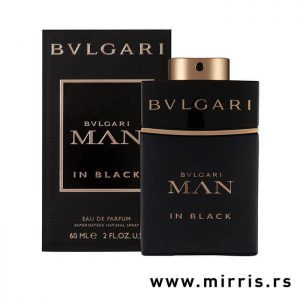 Originalni parfem Bvlgari Man In Black pored crne kutije