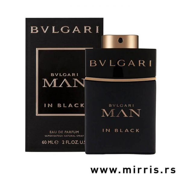 Originalni parfem Bvlgari Man In Black pored crne kutije
