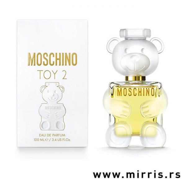 Originalni parfem Moschino Toy 2 pored kutije