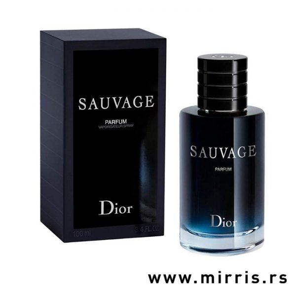 Parfem Christian Dior Sauvage Parfum pored originalne kutije