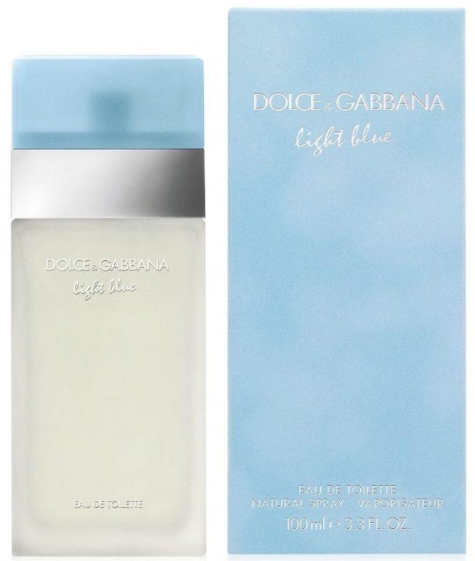 Najbolji ženski parfemi za 2020. godinu: Dolce & Gabbana Light Blue pored kutije