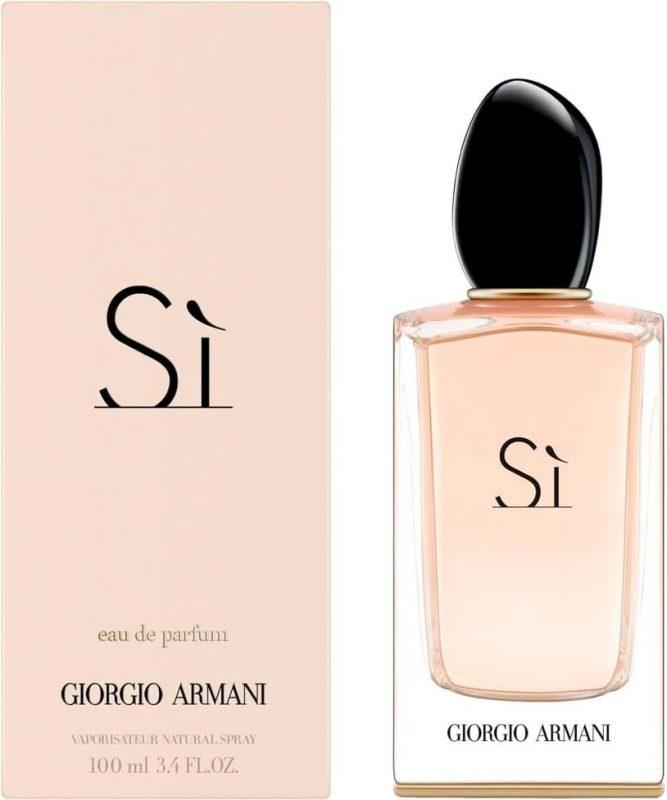 Najbolji ženski parfemi: roze boca Giorgio Armani Si i roze kutija