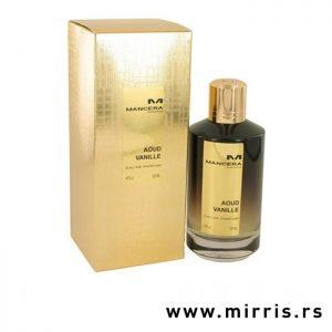 Boca niche parfema Mancera Aoud Vanille pored kutije