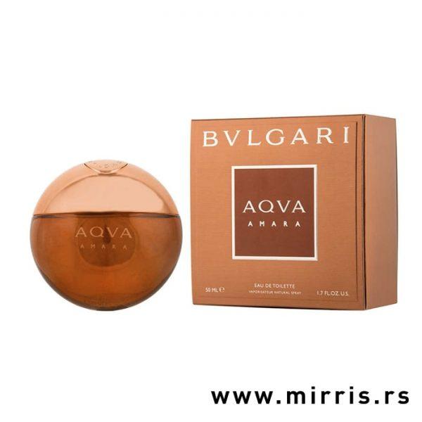 Bočica originalnog parfema Bvlgari Aqva Amara pored kutije