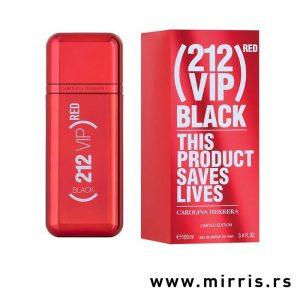 Originalni parfem Carolina Herrera 212 Vip Men Black Red pored crvene kutije