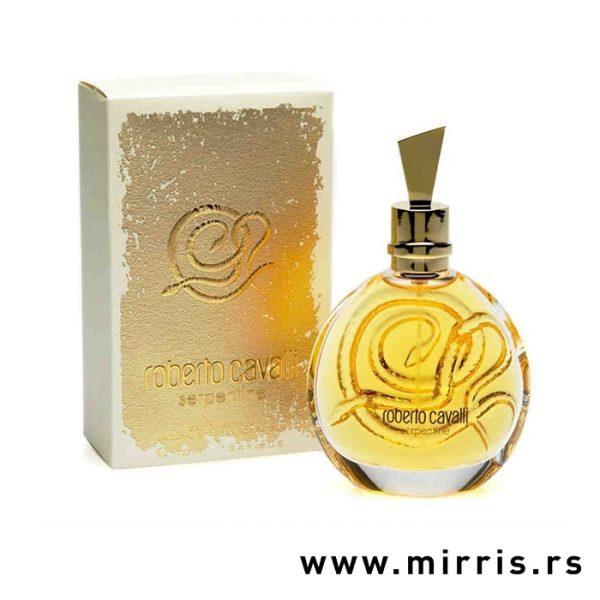 Boca parfema Roberto Cavalli Serpentine pored originalne kutije