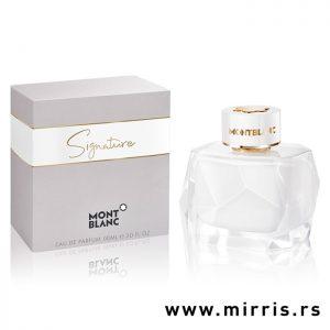 Boca parfema Montblanc Signature pored originalne kutije