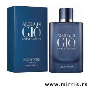 Parfem Giorgio Armani Acqua Di Gio Profondo pored plave kutije