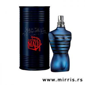 Boca parfema Jean Paul Gaultier Ultra Male plave boje i originalna kutija