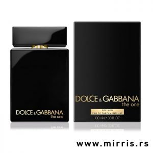 Boca parfema Dolce & Gabbana The One Intense i kutija crne boje