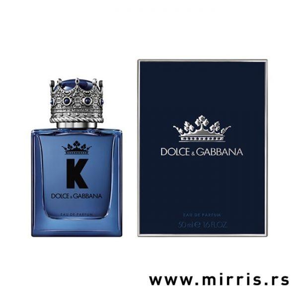 Plava bočica muškog mirisa Dolce & Gabbana K i originalna kutija
