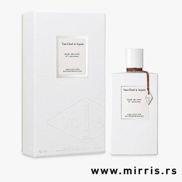 Boca parfema Van Cleef & Arpels Oud Blanc pored bele kutije