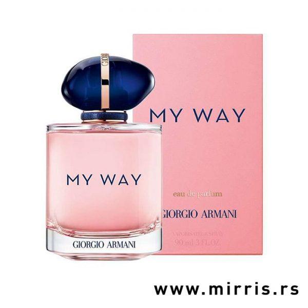 Boca parfema Giorgio Armani My Way pored roze kutije