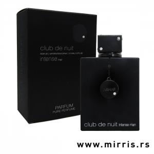 Boca muškog parfema Armaf Club De Nuit Intense Man Pure Parfum i crna kutija