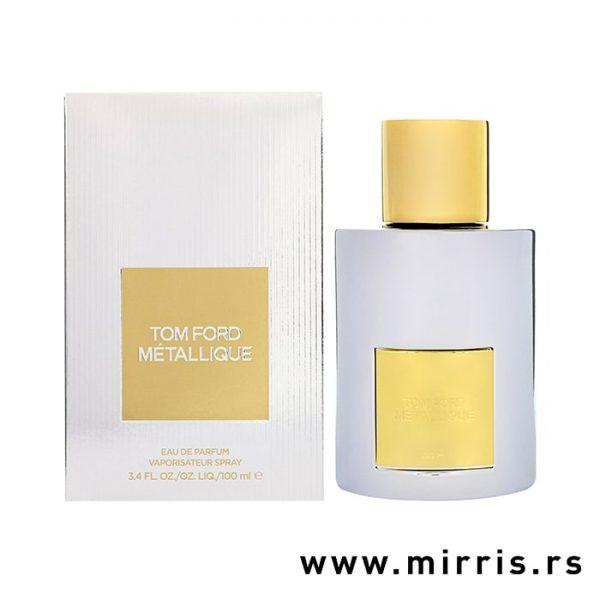 Bočica parfema Tom Ford Metallique pored kutije