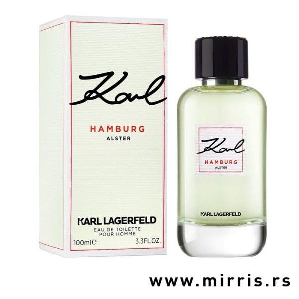 Boca muškog parfema Karl Lagerfeld Hamburg pored originalne kutije