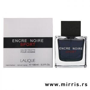 Muški miris Lalique Encre Noire Sport pored bele kutije