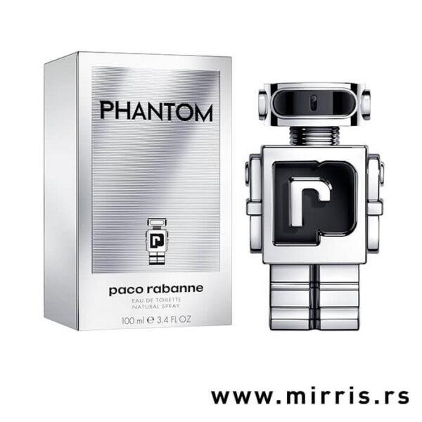 Boca muškog parfema Paco Rabanne Phantom pored kutije